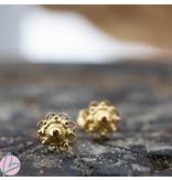 IXXXI Zeeuwse knop Staal oorbellen goud
