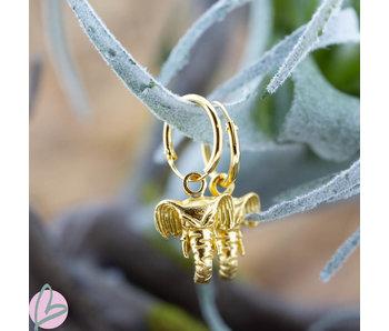 KARMA Oorringen goud met olifant