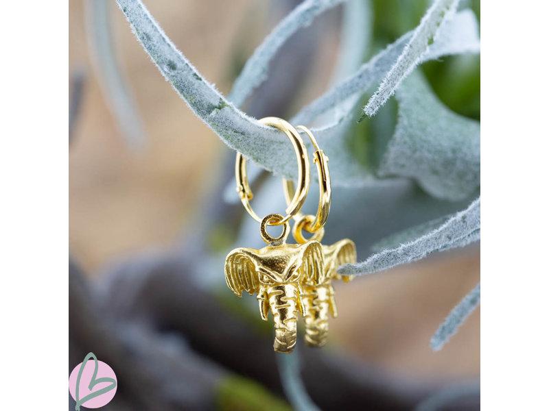 KARMA Hoops Symbols Elephant Head Goldplated