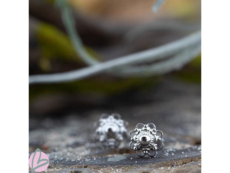 IXXXI Zeeuwse knop Staal oorbellen zilver