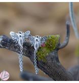 KARMA Oorbellen goud met ketting bij zilver