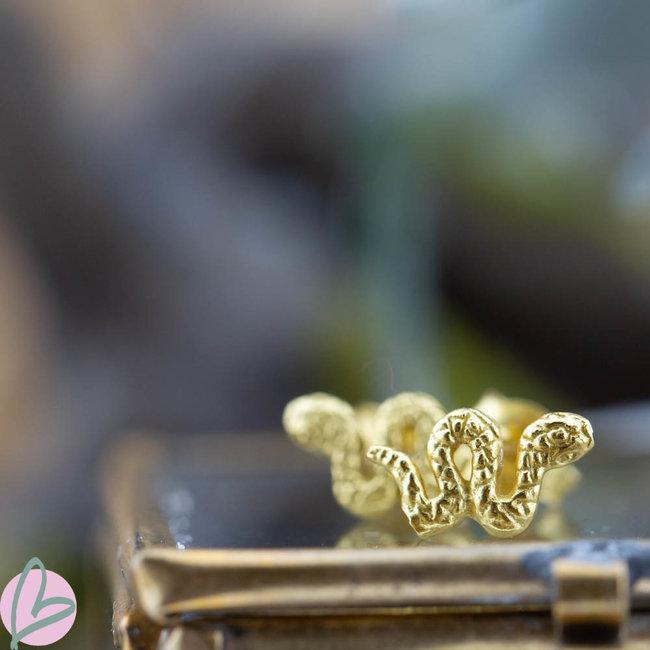 KARMA Oorstekers goud slang