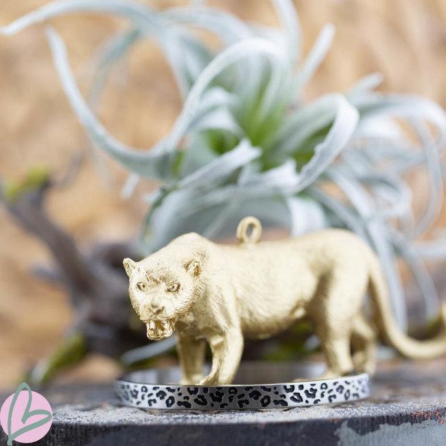 KalliKalli Bangle armband zilver leopard