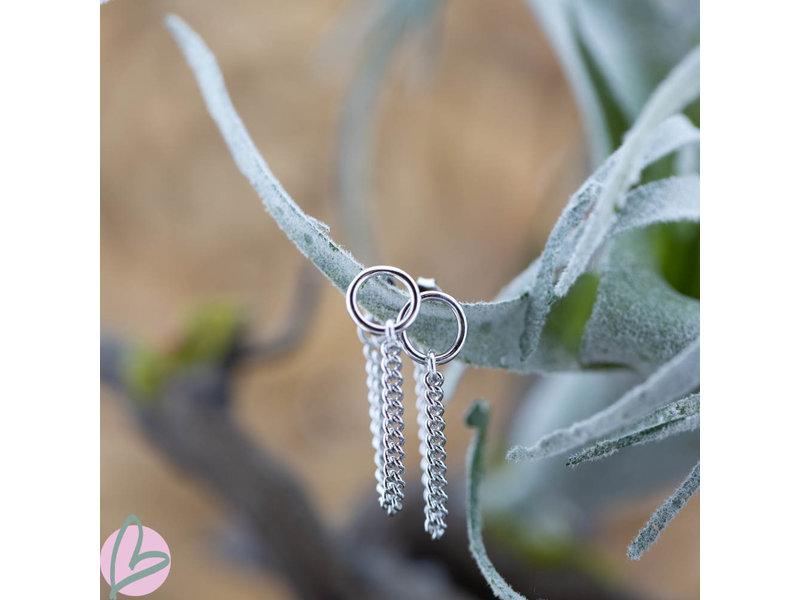 KARMA Chain Open Circle 2 Silver