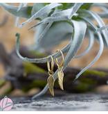 KARMA Hoops Symbols Angel Wings Goldplated