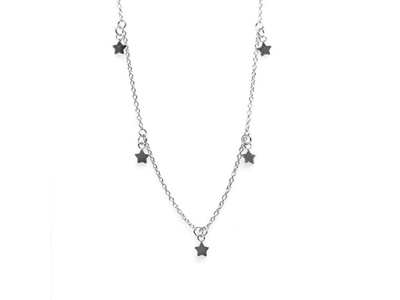KARMA Karma necklace 5 stars silver