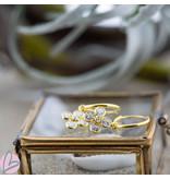 KARMA Hoops Symbols Crystal flower Goldplated