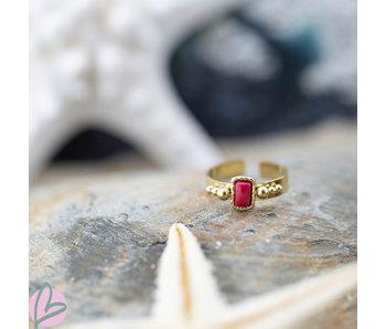 Biba Ring rood rechthoekig breed
