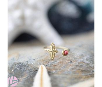 Biba Ring roze bloem