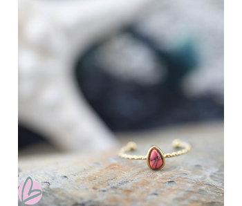 Biba Ring koraalroze druppel