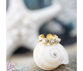 Biba Ring witte rondjes