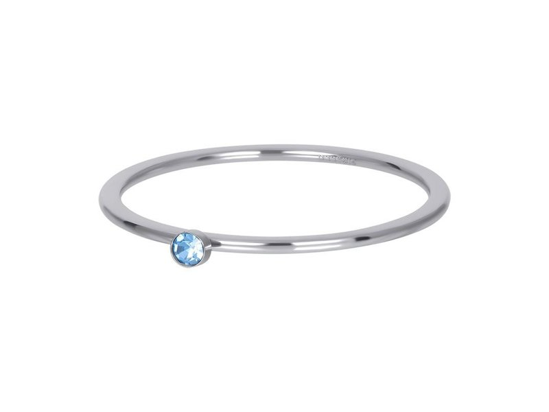 IXXXI Vulring 1mm crystal zilver blauwe steen