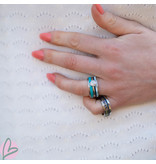 IXXXI Complete ixxxi ring zilver turquoise zeester