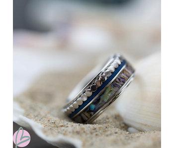 IXXXI Complete ixxxi ring zilver blauw schelp