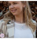 ZAG  Bijoux Dubbele zilver ketting met schakel en munt