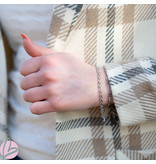 Go Dutch Label Armband schakeltje zilver