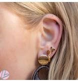 IXXXI Earstuds Ixxxi flamingo goud
