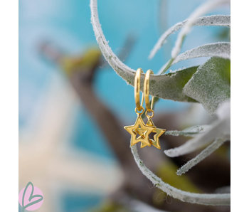 KARMA Hoops Symbols Open Star Gold 925