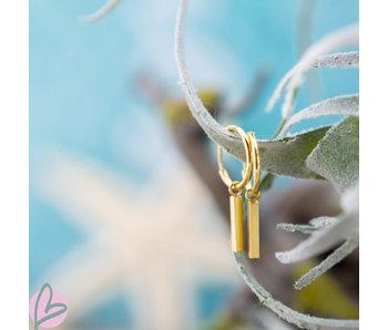 KARMA Hoops Symbols Tube Square Gold 925
