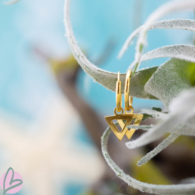 KARMA Hoops Symbols Open Triangle Gold