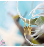 KARMA Hoops Symbols Tiny Flat Cone Gold 925