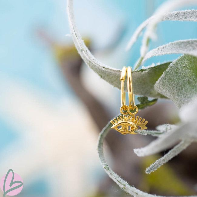 KARMA Hoops Symbols Eye Goldplated
