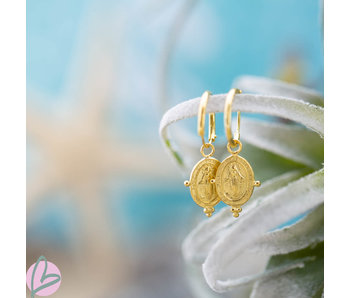 KARMA Hoops Symbols Dots Maria Goldplated