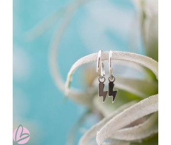 KARMA Hoops Symbols Lightning Silver