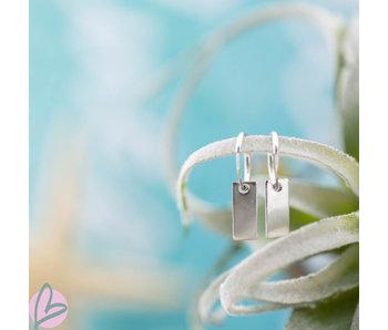 KARMA Hoops Symbols Rectangle Silver