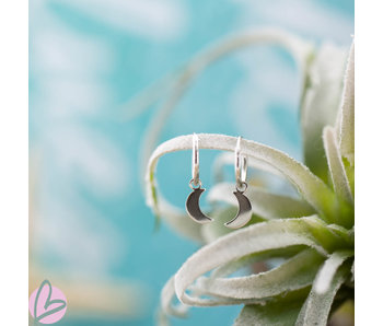KARMA Hoops Symbols Moon Silver