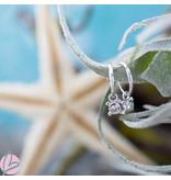 KARMA Hoops Symbols Zirconia Single Stone 4 Dots Silver