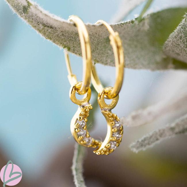 KARMA Hoops Symbols Zirconia Moon gold