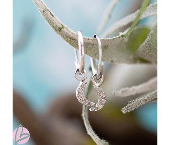KARMA Hoops Symbols Zirconia Moon Silver