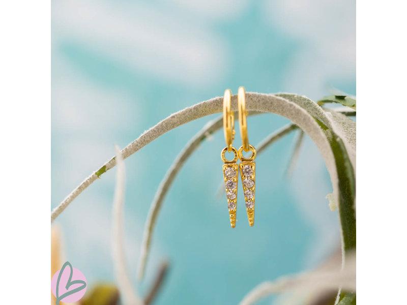 KARMA Hoops Symbols Zirconia Cone Goldplated