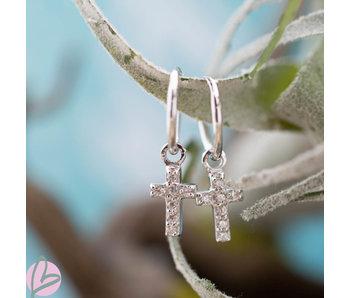 KARMA Hoops Symbols Zirconia Faith 2 silver