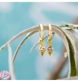 KARMA Hoops Symbol Crystal Zirconia Dot Triple Dots Goldplated