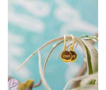 KARMA Hoops Symbols LOVE Goldplated