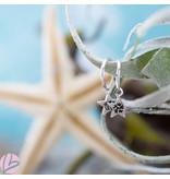 KARMA Hoops Symbol Black Zirconia Star Dots Silver