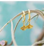 KARMA Hoops Symbols ginko leaf goudkleurig