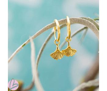 KARMA Hoops Symbols ginko leaf gold
