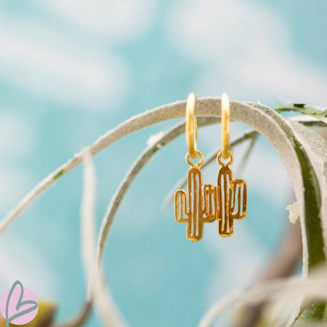 KARMA Hoops Symbols Cactus Goldplated