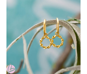 KARMA Hoops Symbols Open Circle TWISTED LOOSE Goldplated