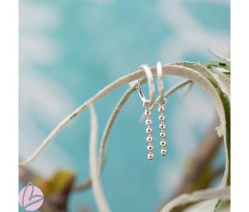KARMA Hoops Symbols Tiny Dots Chain - Silver 925