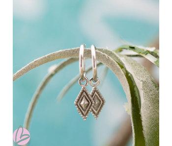 KARMA Hoops Symbols Dots Line Diamond - Silver 925