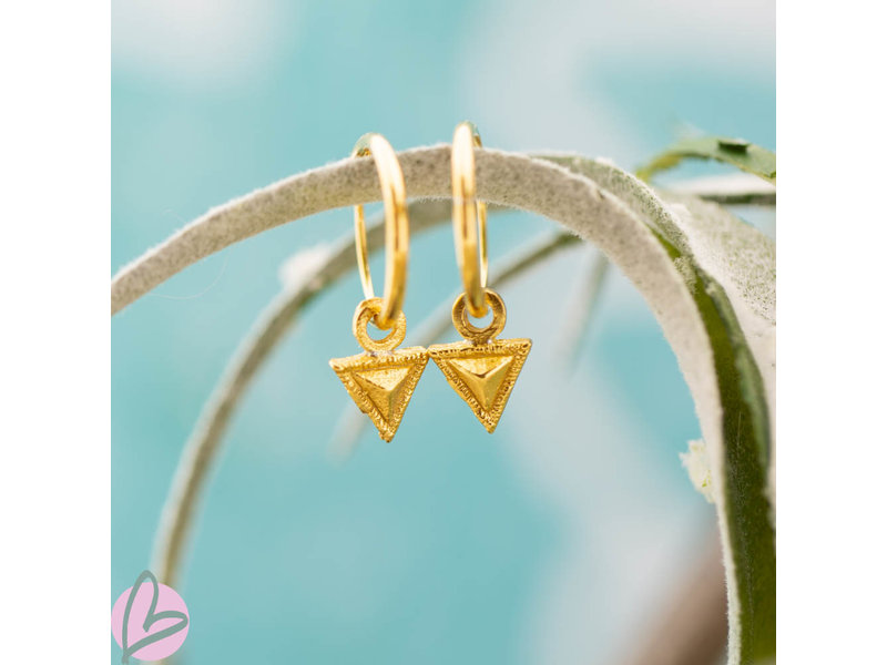 KARMA Hoops Symbols Tiny Triangle Goldplated