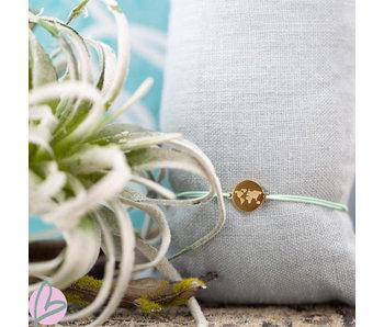 Beadle Wereld armband goud mint