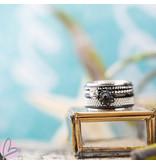 IXXXI Complete zeeuwse ring zwart met steen