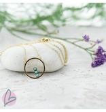 ZAG  Bijoux ketting goud/turquoise