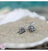 Zeeuws Zilveren Zeeuwse knop oorstekers plat