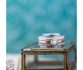IXXXI Complete ixxxi ring smal rosegoud en zilver